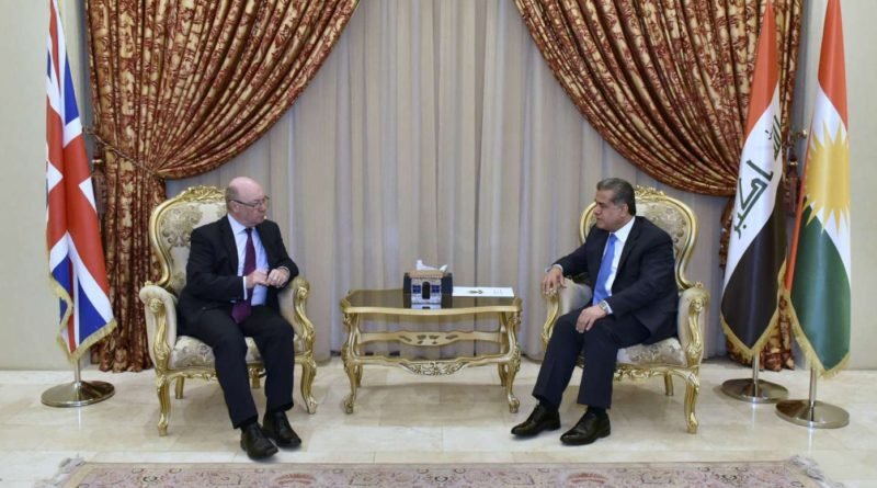 Minister Mustafa and Alistair Burt discussed areas of cooperation