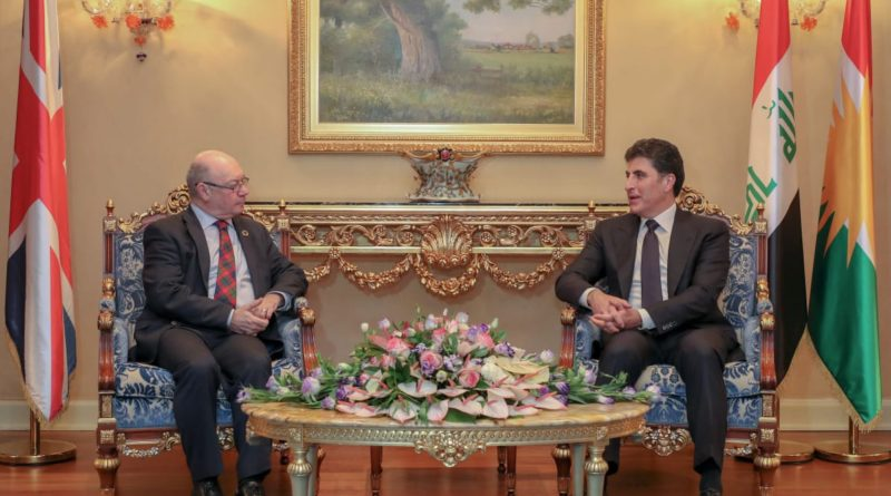 Prime Minister Barzani receives UK delegation
